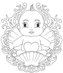 Small Picture Baby Coloring Pages Good 4403