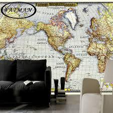 Us 11 05 25 Off Custom 3d Photo Wallpaper European Nautical Chart Map World Map Wallpaper Decorative Lobby Studio Wallpaper Papel De Parede In