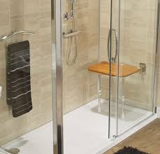 the marquis is a threshold free shower with drying area