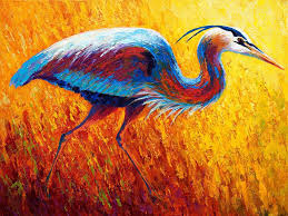 2019 artwork blue heron 2 unframed modern canvas wall art for home and office decoration oil painting animal painatings frame