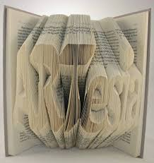 3d typography made by folding pages in books