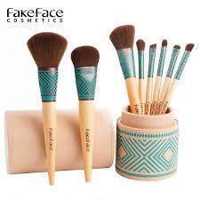 fakeface philippines philippines silk beginner 8 makeup brush set portable makeup eye shadow bucket brush