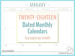 Month At A Glance Calendar Template Month At A Glance Calendar Template These Dated Calendars Feature