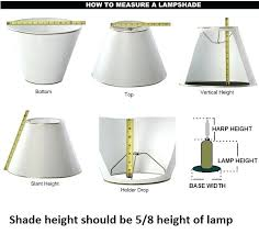 How To Measure A Lamp Shade Amazing Sweet How To Pick The Right Lamp Shade Lovely How To Measure Lamp