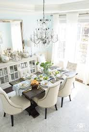 dining room decor ideas. 2017 Fall Home Tour With Yellow And Orange Leaves- Dining Room Chandelier Decor Ideas