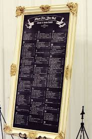 Chalkboard Seating Chart For The Home Seating Chart