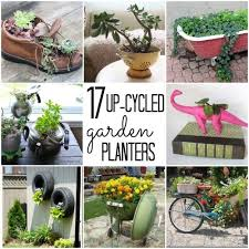 17 up-cycled garden planters from things like shoes, bathtubs, and tires!