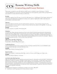 resume writing skills section coverletter for jobs