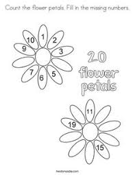 Small Picture Fill In The Missing Numbers Coloring Page Twisty Noodle Coloring