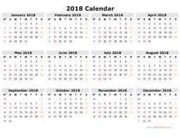 2018 Calendar Printable Templates - Calendar Office