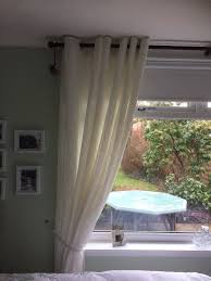 fully lined white white voile curtains 90 x 90