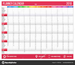 month template 2018 english calendar planner for year 2018 12 months corporate design