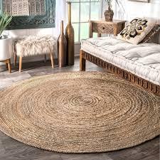 round braided rugs havenside home la jolla braided round jute area rug 4 4 free