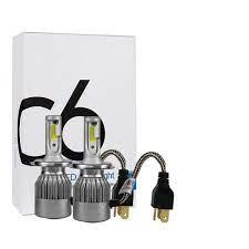 Bộ đèn led pha,cos C6 Chân H4 dùng cho xe oto,xe máy 12v-48v
