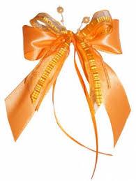 10 Weihnachtsschleifen Christbaumschmuck Schleifen Geschenke Weihnachten Ws1943 Aprikot Orange
