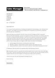 Sample Cover Letter Sales Manager Sample Cover Letter For Sales Associate Job