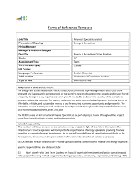 references template free terms of reference template free download