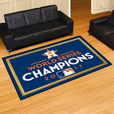 houston astros 2017 world series champions 5x8 area rug