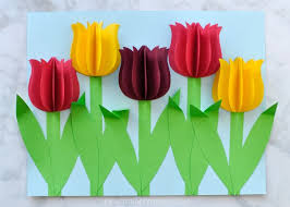 Flower Made By Paper Folding Gorgeous 3d Paper Tulip Flower Craft I Heart Crafty Things
