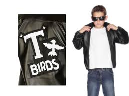 details about grease t bird jacket boys licensed book week fancy dress costume ages 7 12