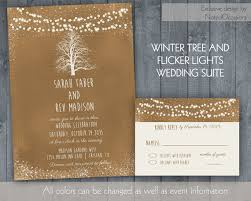 Rustic Winter Wedding Invitations Rustic Winter Wedding Invitation Set Rustic Winter Weddings Kraft