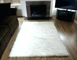 white faux fur area rug white fur area rug spacious furniture amazing small white fur rug