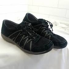 Dansko Size 40 Womens Honor Sneakers Black Suede