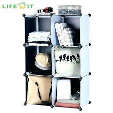 6 cube organizer black bookcase resin storage closet shelf mini closetmaid 1578 cubeicals blac