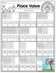 Place Value- Fill in the tens, ones and in all boxes by counting ...
