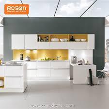 custom new door design mdf high gloss white painting kitchen cabinets