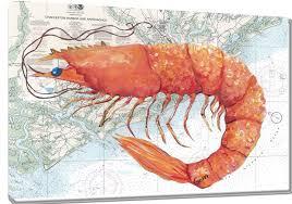 Paintings On Nautical Charts Shrimp On Charleston Nautical Chart Gerri Hyman Art