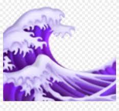 Purple Ocean Emoji Aesthetic Tumblr Hd Png Download