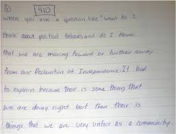 informative explanatory writing page  this student attempts to rephrase the prompt in their own words which is essential however they miss the point of the essay is the united states moving