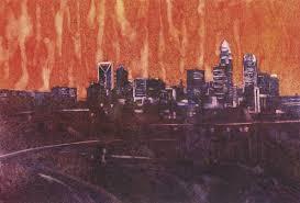 saatchi art artist ryan fox painting watercolor painting of charlotte nc skyline