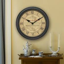 beautiful 18 wall clock of inch bordeaux chaney