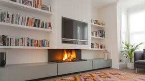 modern gas fireplace with tv above by 572 tv contemporary fireplace i modern fireplace
