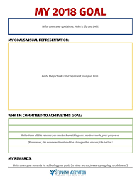 Life Goal Chart Template 11 Effective Goal Setting Templates For You