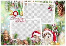 2018 happy new year photo frame template