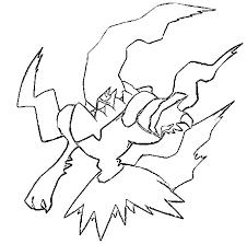 Small Picture Pokemon Coloring Pages Darkrai Darkrai Pokemon Coloring Page