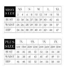 Size Chart La Cera