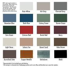 Color Chart Prime Buildings