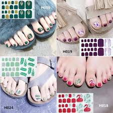 22tips New Style Polish Toe Nail Art Decals Manicure Stickers Foils ...