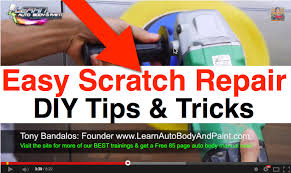 automotive paint scratch repair at home diy