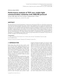 Visible Light Advantages Pdf Performance Analysis Of Tcp Over Visible Light
