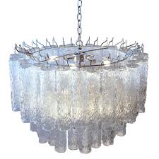 venini italian glass chandelier by wanted lighting