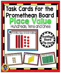 Place Value Flip Chart Promethean Task Cards For The Promethean Board Place Value Tpt