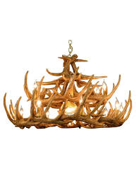 rustic whitetail deer 24 antler chandelier with 15 candlelights and 1 downlight