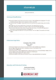 Combination Resume Formats Combination Resume Format 2017