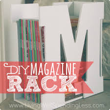 Handmade Magazine Holder New DIY Custom Magazine Rack Living Well Spending Less
