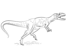 Allosaurus Dinosaurus Kleurplaat Gratis Kleurplaten Printen